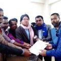 নারায়ণগঞ্জে জেলা পুলিশ সুপারকে সাংবাদিকদের স্মারকলিপি
